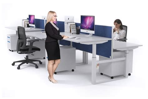 desk height for 6 person 6 person sit stand workstation electric height