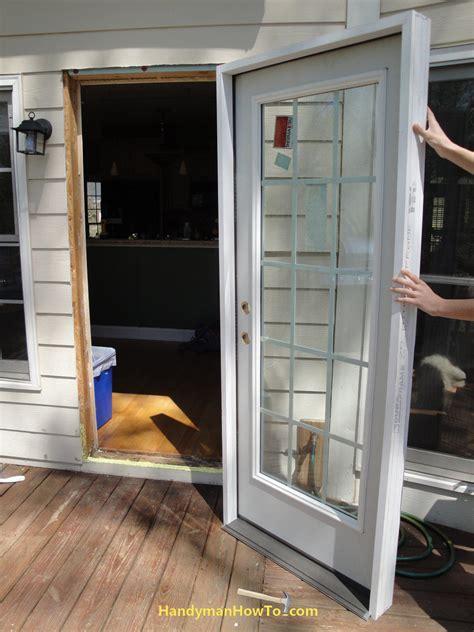 door installation how to replace an exterior door part 3