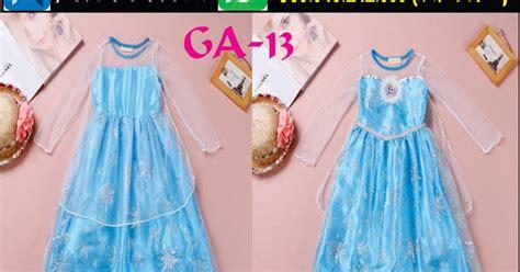 Dress Anak Cewek Kekinian Mustard Import jual gaun anak terbaru frozen perempuan muslim cantik import merah korea cinderella ga 13 dress