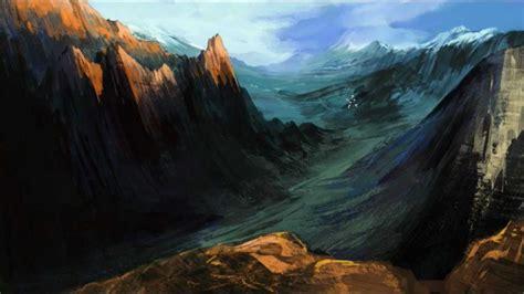 tutorial photoshop landscape mountain landscape speed painting in photoshop by chliszcz