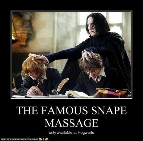 Funny Massage Memes - snape fangirls dream harry potter photo 25451462 fanpop