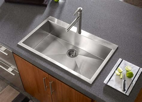 types of kitchen sinks stainless steel kitchen sinks quick guide the kitchen