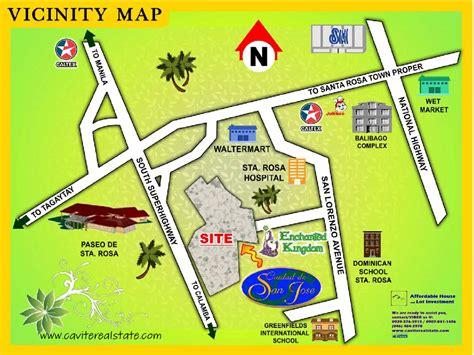 san jose tagaytay map villages san jose map