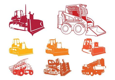 Baustellenschild Vektor Free by Construction Equipment Silhouettes Download Free Vector