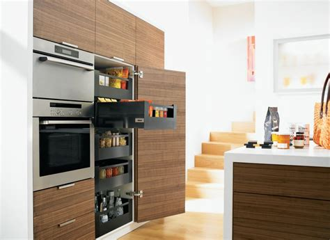 blum kitchen cabinets fulfil your desire for more storage space with space tower