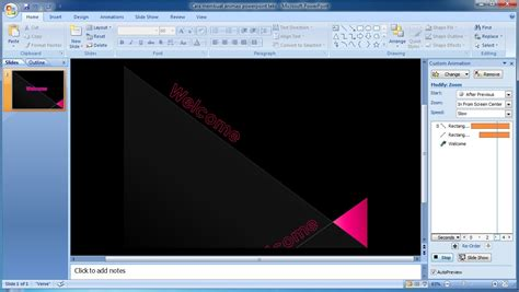 cara membuat power point 2007 jadi video tutorial powerpoint 2007 cara membuat efek animasi pada