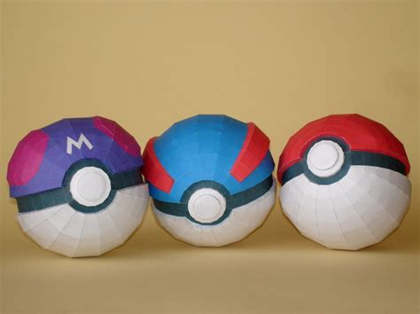 How To Make A Paper Pokeball That Opens - pokeball papercraft no 1 by skele on deviantart
