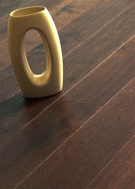 Iroko Handrail Oak Lacquered Handscraped Dark Stained Flooring 14 X 180