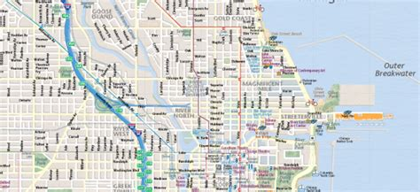 printable street map chicago map of chicago interactive and printable maps wheretraveler