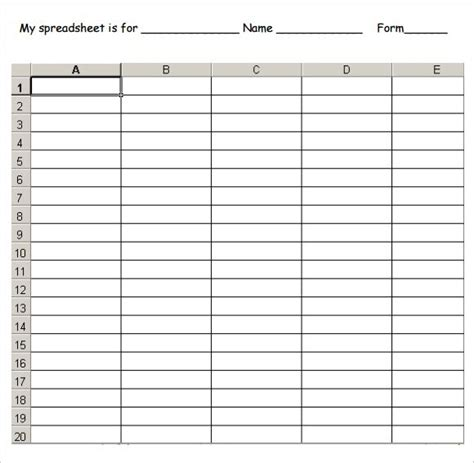 printable blank spreadsheet templates budget