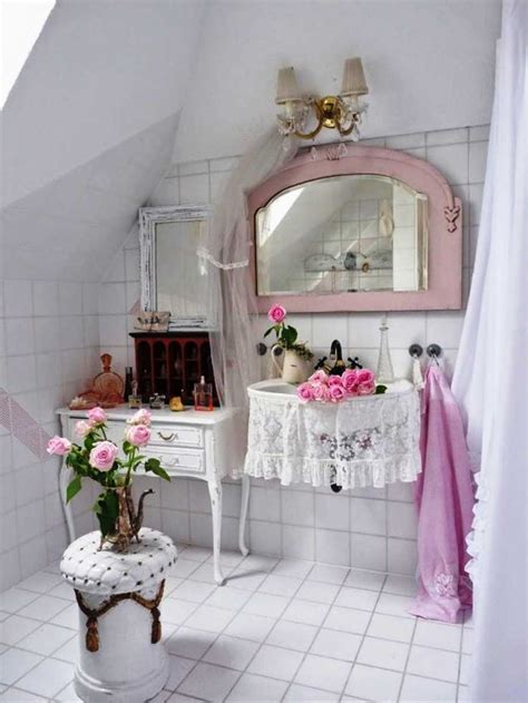 Modern Shabby Chic Bathroom by Bathroom Decoration Vintage Shabby Chic Decorating Ideas