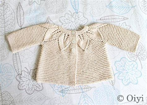 leaf pattern baby sweater cardigans leaves and cardigan pattern on pinterest