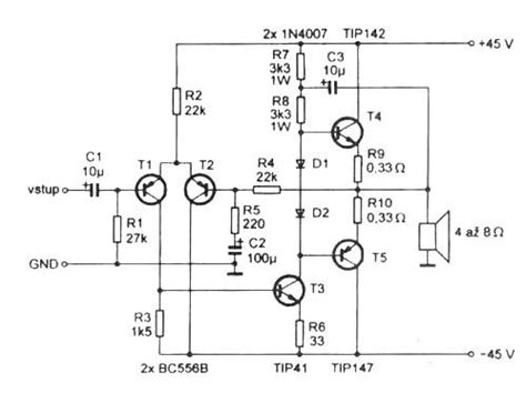 simple transistor guitar lifier mosfet power circuit teker 233 s k 246 zben