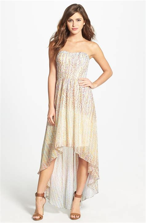 high low chiffon dress dressed up