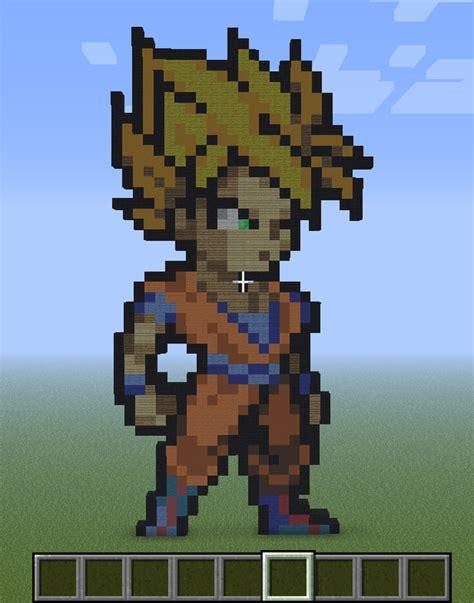 imagenes de goku en minecraft dbz gohan pixel art bing images