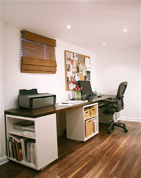 design your own home office space how to make a planked wood desktop counter young house love