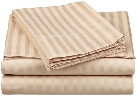 egyptian cotton bed sheets luxury egyptian cotton 300 thread count stripe queen waterbed sheet sets ebay