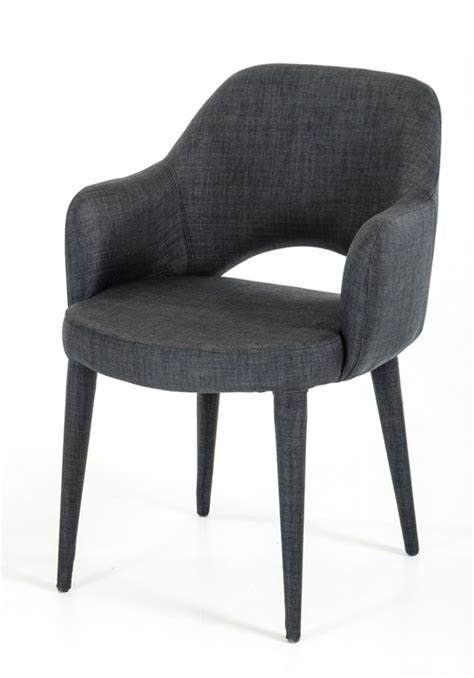 Modern Upholstered Dining Room Chairs by Modrest Williamette Modern Dark Grey Fabric Dining Chair