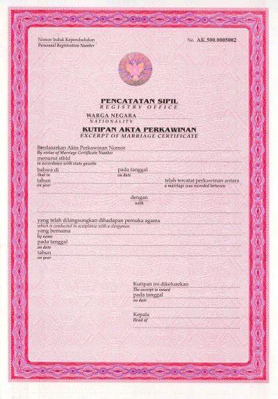syarat membuat akta kelahiran dki jakarta syarat syarat pernikahan catatan sipil milist batak gaul