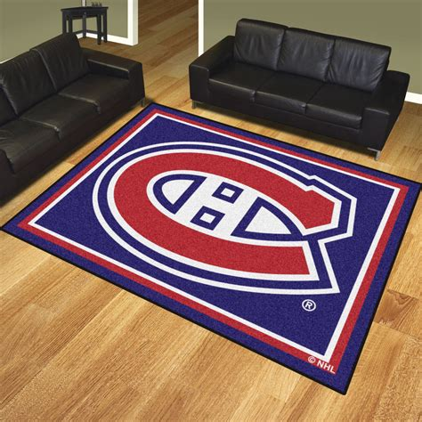 rugs montreal montreal canadiens 1 4 quot plush area rug 8 x 10