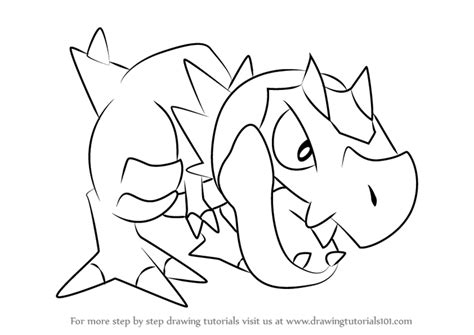 pokemon coloring pages amaura learn how to draw tyrunt from pokemon pokemon step by