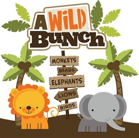 bca zoo day a wild bunch svg scrapbook collection zoo svg cut files
