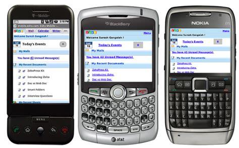 mobile zoho zoho 233 tend et uniformise offre d application mobile