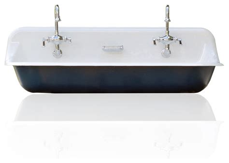 Trough Sink Kitchen Large 48 Quot Kohler Farm Sink Cast Iron Porcelain Trough Sink Package Hague Blue Farmhouse