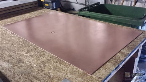 Copper Back Splash With A Satin Finish Custom Copper Sheet Metal Backsplash