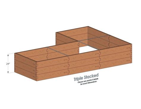 bed l with outlet l shaped raised garden bed 4x16 raised garden bed