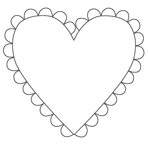 heart shape coloring pages coloring pages pictures