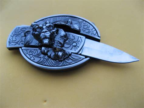 pocket knife belt buckle style leo sign cool pocket knife knives belt