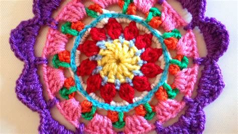 mandala pattern youtube how to crochet a beautiful and colorful mandala diy
