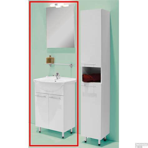 badkamermeubel verlichting complete badkamermeubel set emma 52cm incl spiegel