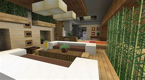 Minecraft Modern Living Room | modern jazz luxury home minecraft project