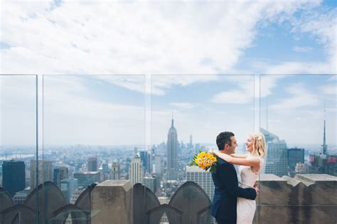 Rockefeller Center Elopement   Top of the Rock Hochzeit
