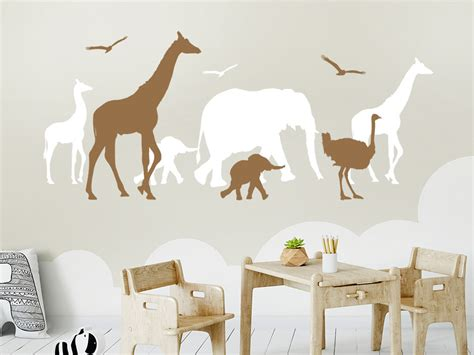Wandtattoo Kinderzimmer Afrika by Wandtattoo Safari Afrika Wandtattoo De