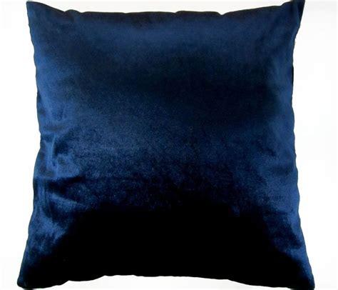 Navy Blue Pillow Cases by Em89 Navy Blue Shimmer Velvet Style Cushion Cover Pillow