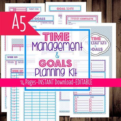 printable calendar goals filofax a5 filofax inserts daily planner printable