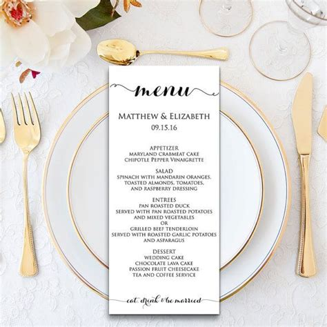 elegant formal dinner menu ideas 17 best ideas about wedding menu template on pinterest