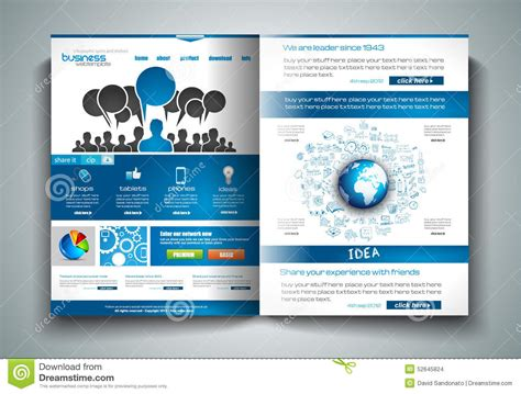 vector bi fold brochure template design or flyer layout to