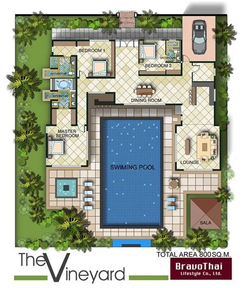 u shaped floor plans with pool best 25 house plans with pool ideas on pinterest