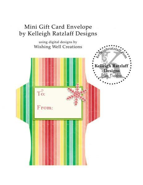 Printable Gift Card Envelopes - 12 days blog hop free printable gift card envelope kelleigh ratzlaff designs