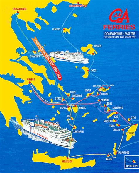 athens to kos by boat g a ferries routes from to piraeus athens and aegean