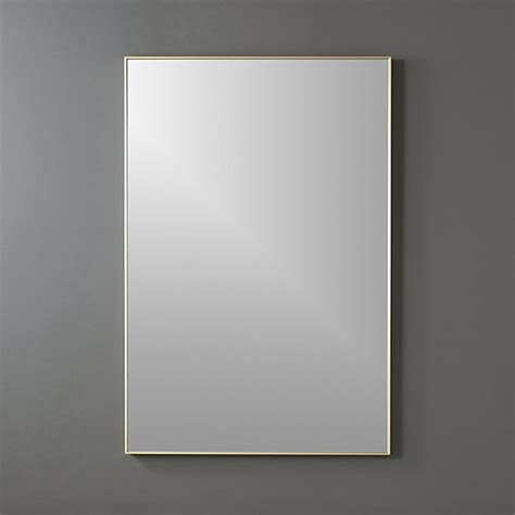rectangle mirror infinity brass 24 quot x36 quot rectangular wall mirror cb2