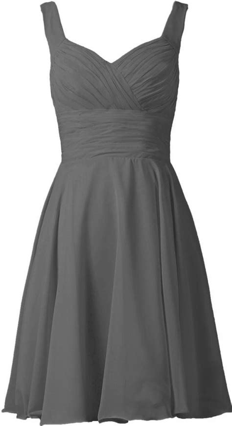 Dress Grey grey bridesmaid dresses with strapless neckline gray
