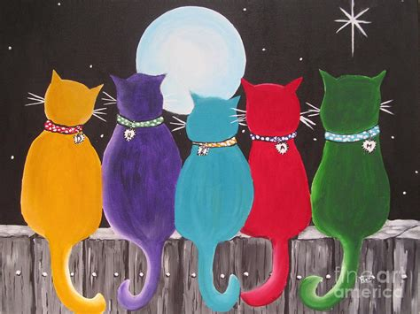 Cats Sitting On A Fence Wishing Iphone Semua Hp happy cats on a fence painting by beverly livingstone