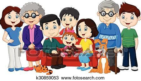 clipart nonni clipart grande famiglia con nonni k30859053 cerca