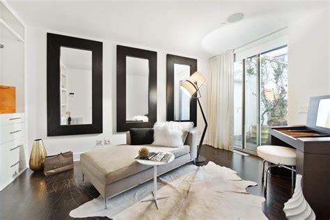 large room mirrors make small living room look bigger loft design 224 houston