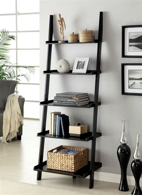 Diy Bathroom Shelving Ideas by Furniture Of America Klaudalie 5 Tier Ladder Style